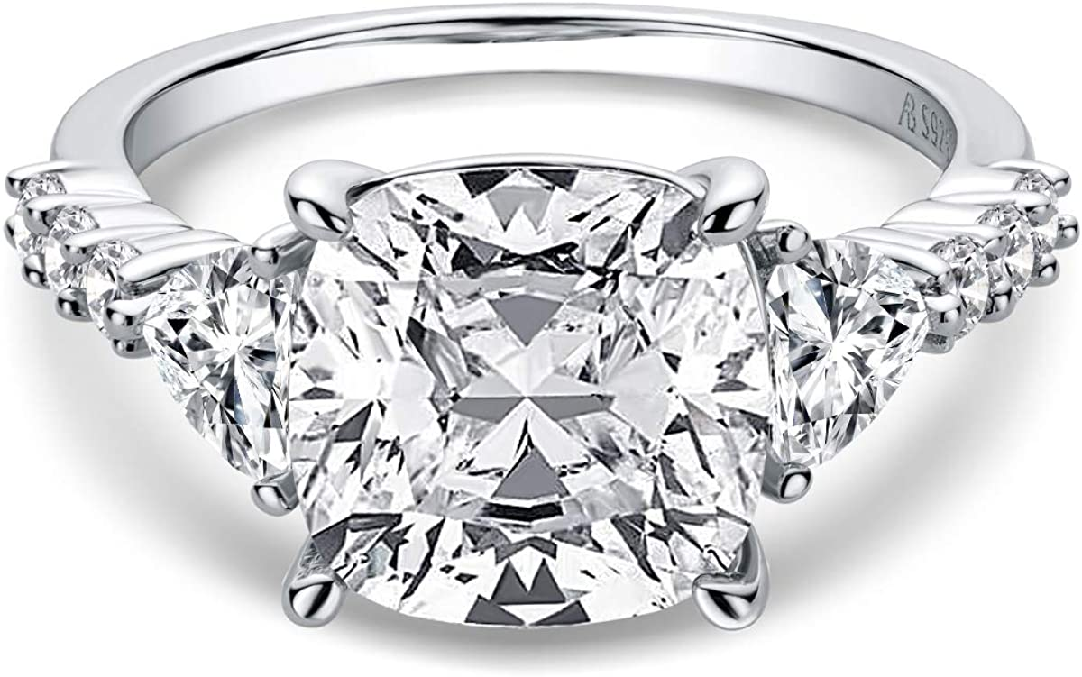 AINUOSHI 5ct Cushion Cut Cubic Solitaire Engagement Zirconia unisex Be super welcome CZ