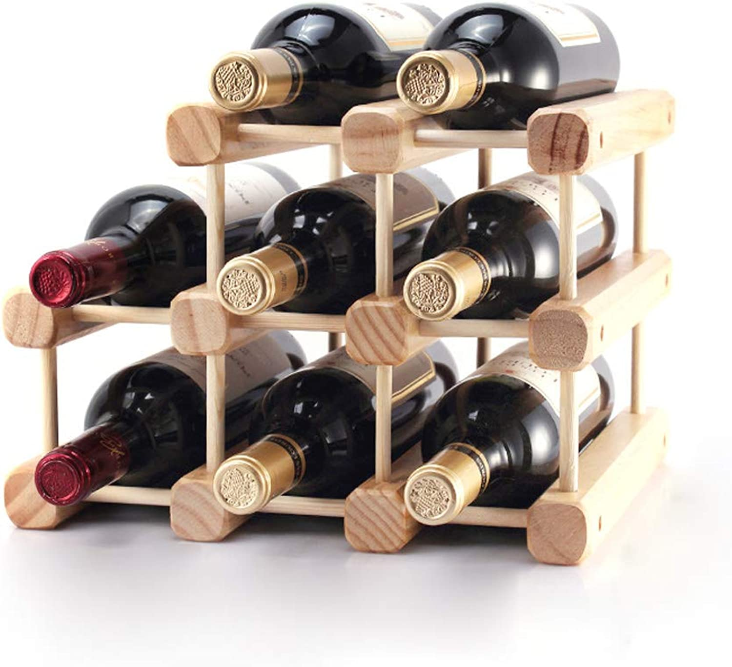 Solid Wood Wine Rack Creative Wooden Wine Racks Can Be Assembled Simple 32x26x28cm