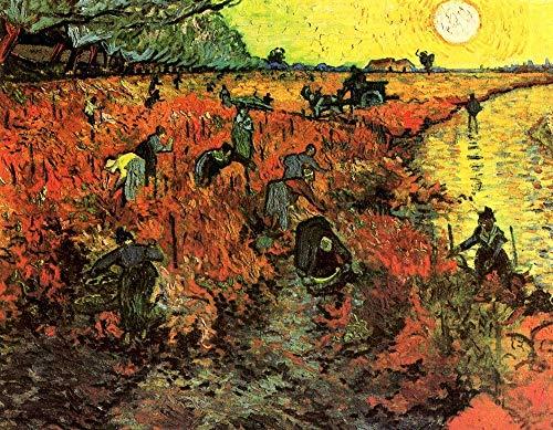 Puzzle-a Van Gogh - El viñedo rojo 300/500/1000 las piezas del rompecabezas, rompecabezas de madera for adultos, multicolor Puzzle-a (Size : 1000PCS)