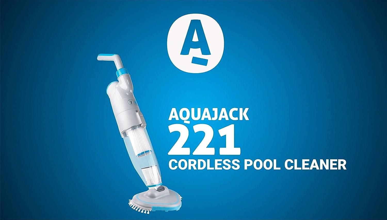 AquaJack Aspirador limpiafondos electrico con bateria para Piscina y SPA AJ-221