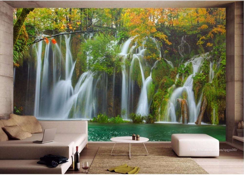 Rureng Cascados Estereoscópicos 3D Murales De Parojo Fondos De Pantalla Para Parojoes Papel Tapiz Fotográfico 3D Personalizado Para Habitación De Nios-200X140Cm