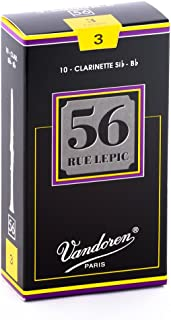 Vandoren CR503 Bb Clarinet 56 Rue Lepic Reeds Strength 3; Box of 10