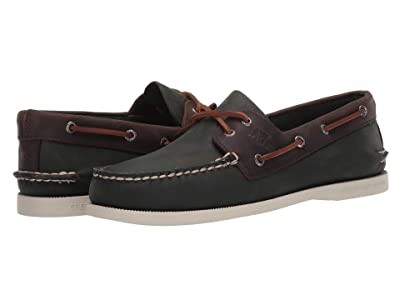 Sperry A/O 2-Eye Wild Horse (Olive/Riverboat) Men