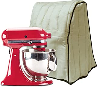 Stand Mixer Cover For KitchenAid, KINTAR Dust Cover with Pocket for Extra Accessories, Compatible with 4.5/5/6/7 Quart,Khaki,Kitchen aid Cover