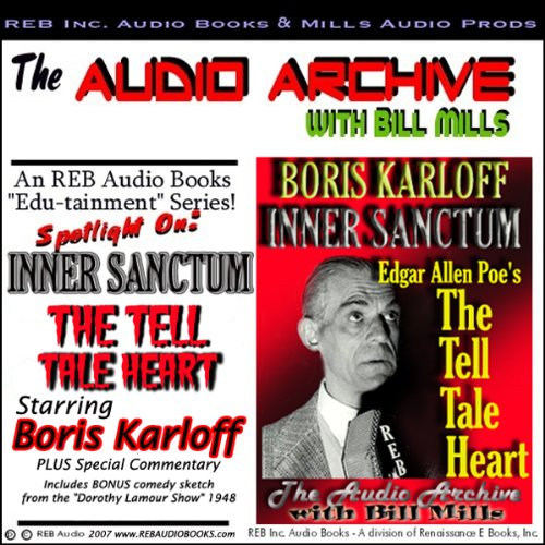 The Tell Tale Heart, starring Boris Karloff audiobook cover art