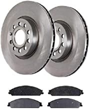 Prime Choice Auto Parts RSCD64159-64159-1070-2-4 4 Front Ceramic Brake Pads and 2 Front Brake Rotors