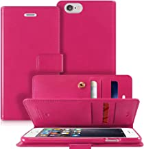 Goospery Mansoor Wallet for Apple iPhone 6S Plus Case (2015) iPhone 6 Plus Case (2014) Double Sided Card Holder Flip Cover (Hot Pink) IP6P-MAN-HPNK