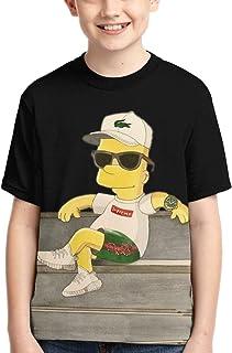 Henrnt Bart Simp-Son - Maglietta a maniche corte per ragazzi, ad asciugatura rapida, traspirante,