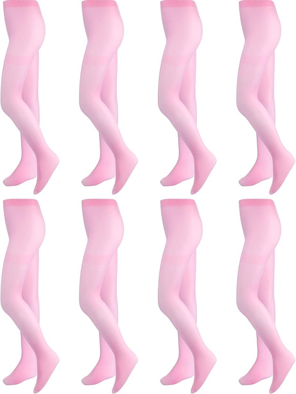 症候群保険ビット8ペア ガールズ ダンスタイツ バレエタイツ バレエ 足付き レギンス 女の子 キッズ 幼児用