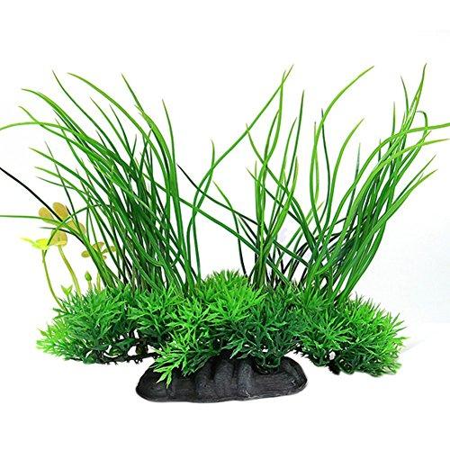 Demarkt konstgjorda vattenväxter konstgjort vatten akvarium gräs konstgjord undervattenväxt akvarium dekor konstväxt akvarium dekoration grön 20 x 8 x 16 cm
