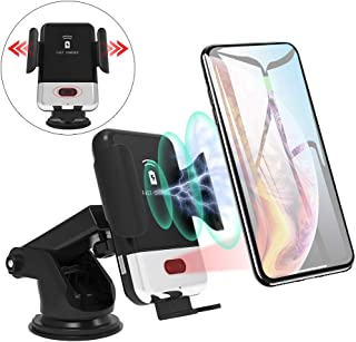 Wireless Car Charger Mount, Unleashed Online 10W Qi Wireless Car Fast Charger Mount Air Vent & Dashboard Phone Gravity Holder Compatible iPhone X/Xs Max/XR/8/8+, Samsung S10/S10+/S9/S9+/S8/S8+