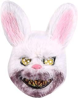 JTWEB Halloween Horror Masken Hase Grusel Dekoration Horror Masken Halloween Kostüm für Karneval Cosplay Kostümparty Hallo...