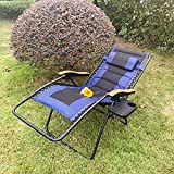 VICLLAX Outdoor Zero Gravity Lounge Chair, Padded Folding Recliners