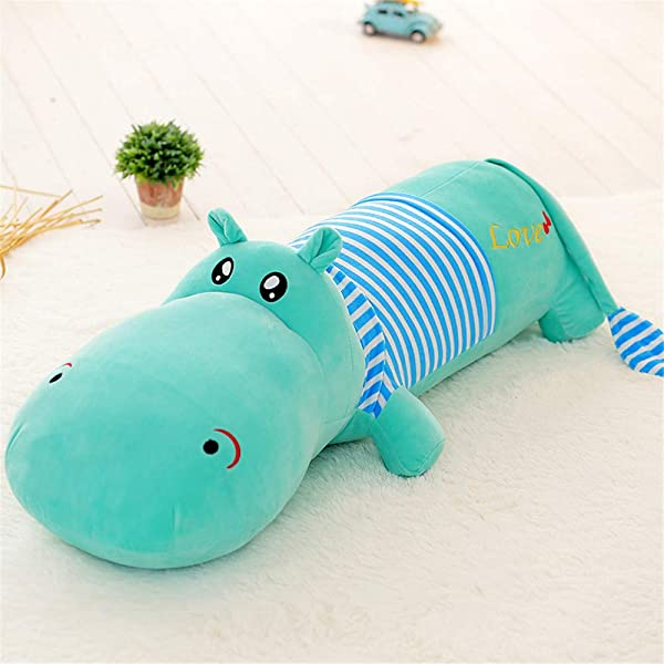 MENILITHS 31 4 Blue Hippo Stuffed Animal Toy Soft Plush Hippopotamus Pillow Soft Animal Toy Gift Friend Kids Adult