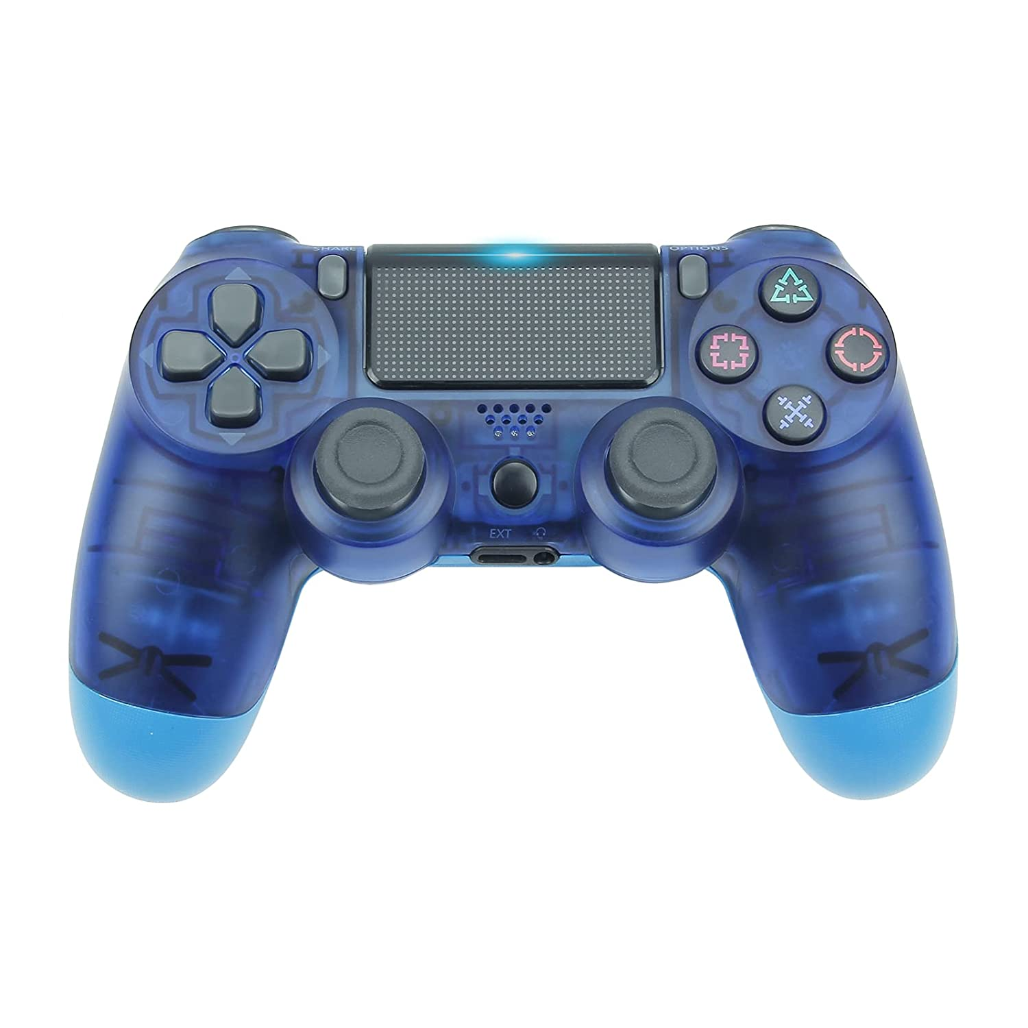 Ps4 controller-audio/Gamepad remote joystick, suitable Playstation 4 / Slim game console (Clear Blue)