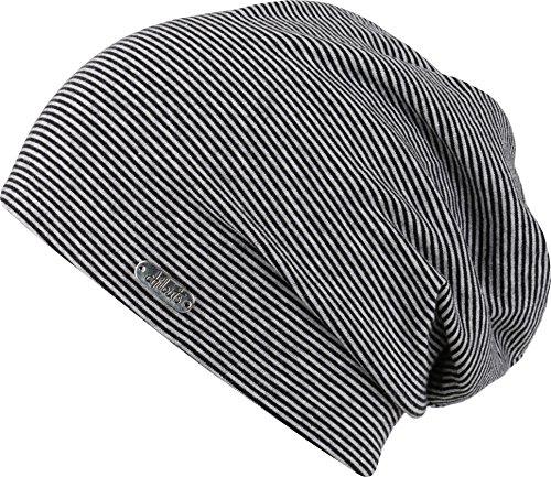 FEINZWIRN Pittsburgh Mütze Black mit 95% Baumwolle (Black)