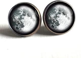 Full Moon Stud Earrings