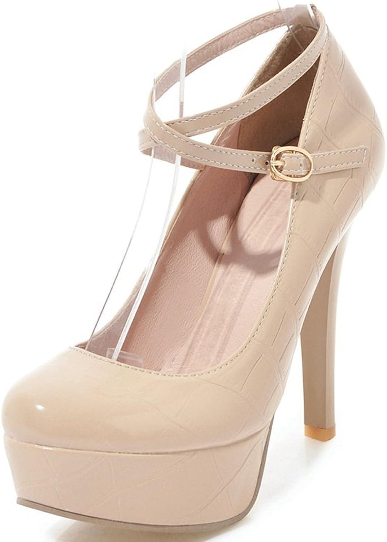 SaraIris Women's Stiletto Heel shoes Cross Ankle Dress Party Wedding Pumps