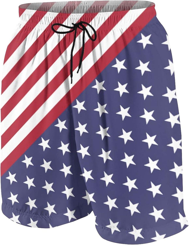 PL.PAUL Us Flag Patriotic 4th of July Boys Girl Teenager Shorts Quick Dry Swim Trunks Patriotic Swim Trunks