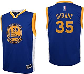 adidas NBA Golden State Warriors Kevin Durant Youth Boys Replica Player Road Jersey, Large (14-16), Blue