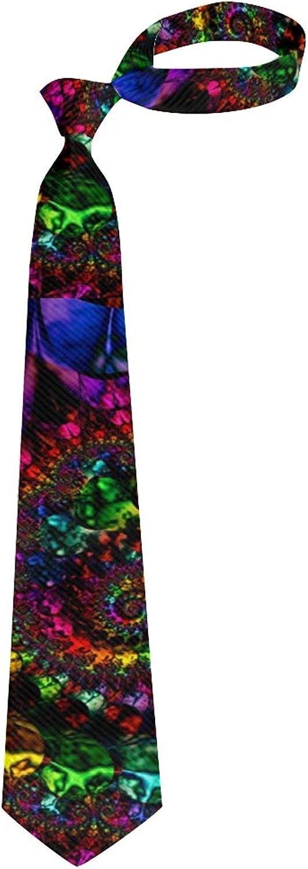 Men Teen Tie Casual Necktie Funny Raibow Tie Dye Spiral Tie Neckwear Scarf Neckcloth