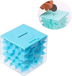 Qiajie Laberinto del Dinero Rompecabezas Caja de Almacenamiento de diversión y desafiante en Efectivo, Monedas Caja de Banco para los Cabritos y los niños