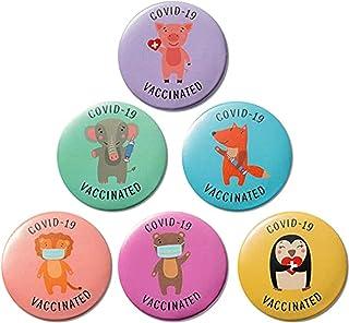 Badge en Métal 6PC avec Accessoires De Message Solidarité pour Sac À Dos, Veste, Capuchon, Vêtements Et Écharpe Vaccinés C...