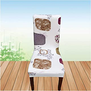 Toddor Flower Printing Chair Cover Spandex Stretch Elastic Slipcover Chair Covers White for Dining Room Kitchen Wedding Banquet,J,Other