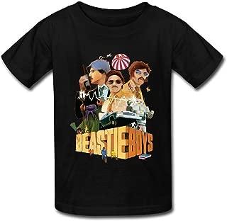 Kazzar Kid's Beastie Boys Hit Hop Band Round Collar T Shirt