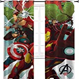 Iron Man Captain America Hulk Avengers cartoon art Blackout Curtains for Bedroom/Living Room Thermal Insulated Curtains for Boys Bedroom 42'W x 54'L
