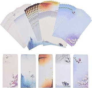مجموع 60Pcs، NUIBY 40 رقم نامه نامه نوشتن لوازم التحریر مقاله نامه نامه، با 20 رقم پاکت نامه، رنگ نقاشی طراحی رنگ های مختلف (40 Stationeries + 20 پاکت)