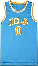 Men's Basketball Jerseys Westbrook 0 UCLA California New Fabric Embroidered Unisex Sleeveless T-Shirt Basketball Uniform NBA Swingman Jersey