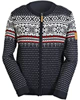 ICEWEAR Magnus Men's Wool Blend Sweater for Winters with Full Zipper 30% Icelandic Wool and 70% Acrylic Fabric | Total Eclipse - Large