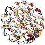 ZWANG Hellokitty Hello Kitty Pegatina Maleta Trolley Maleta Pegatina Chica corazón Rosa Guitarra monopatín Color