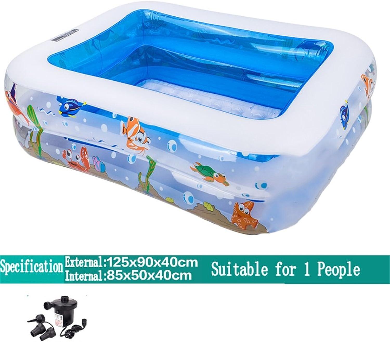 Aufblasbare Badewanne   Pool Paddling Pool Meer Ball Pool für Kind   Baby   Familie mit Fu   Elektrische Pumpe Geeignet für 1 Personen (125  90  40cm) ( ausgabe   Electric Pump )