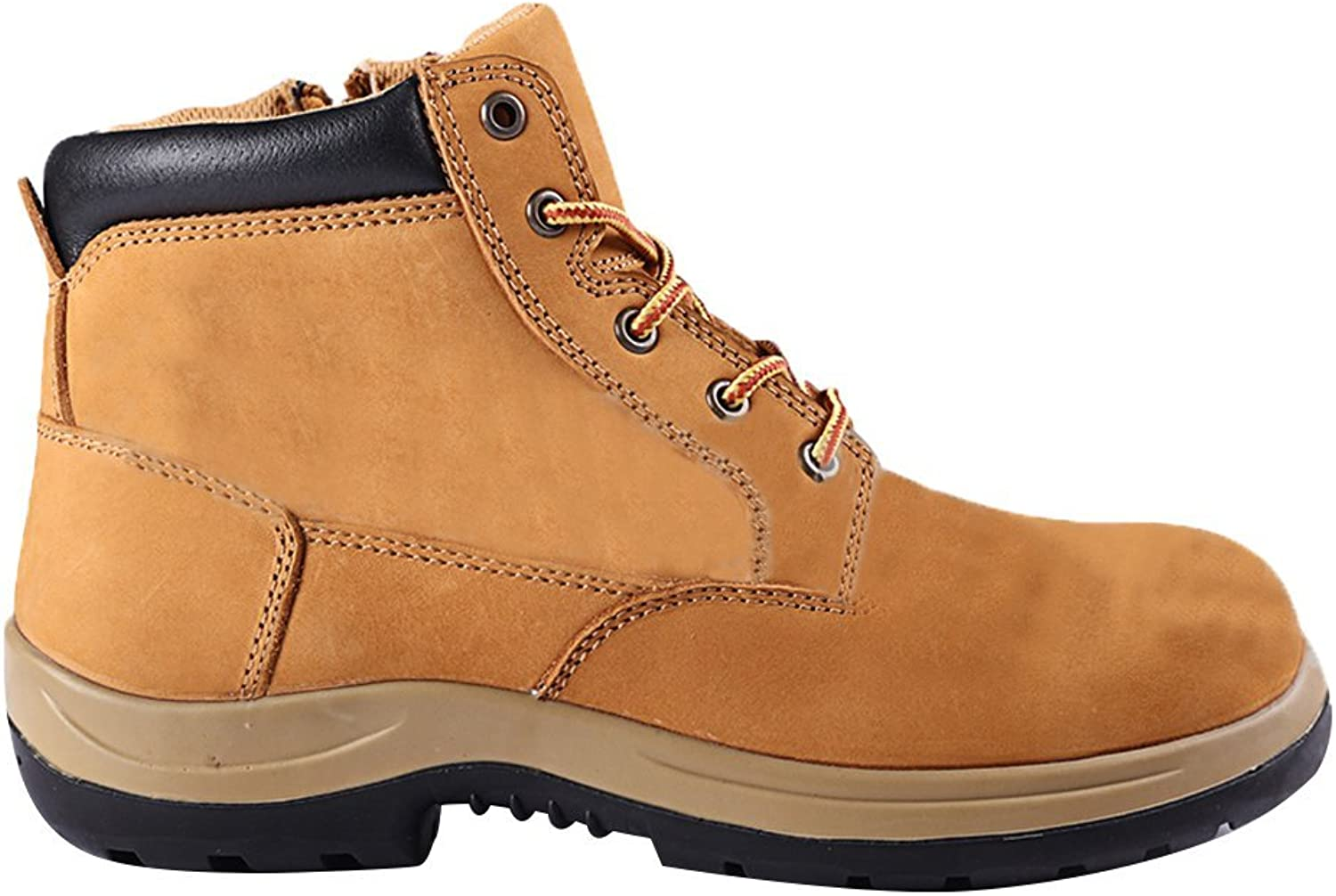 Rock Rooster Men's Unisex Adults' Work Safety Boots Ankle Boots shoes Rubber Sole with Steel Toe Cap Midsole Predection