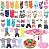 Miunana Lot 12 Pcs Handmade Doll Clothes and Accessories Set for Ken and 11.5 Inch Dolls| Random 3pcs Swim Trunks for Ken + 5 pcs Swimsuits for Girl Doll + 1 Surf Skateboard + 2 Lifebuoys