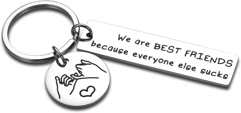 Funny Friendship Besties Gifts 1 year warranty Keychain Men Teenage Women Gi for Credence