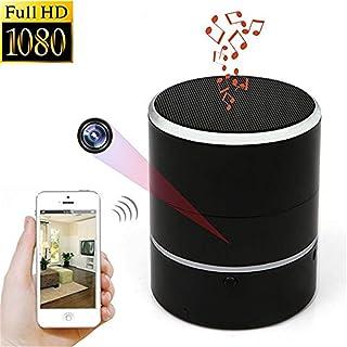 Balscw-J Cámara Oculta 1080P WiFi HD Spy CAM Altavoces Bluetooth Minicámara inalámbrica Girar PTZ Grabadora de Video a 180...