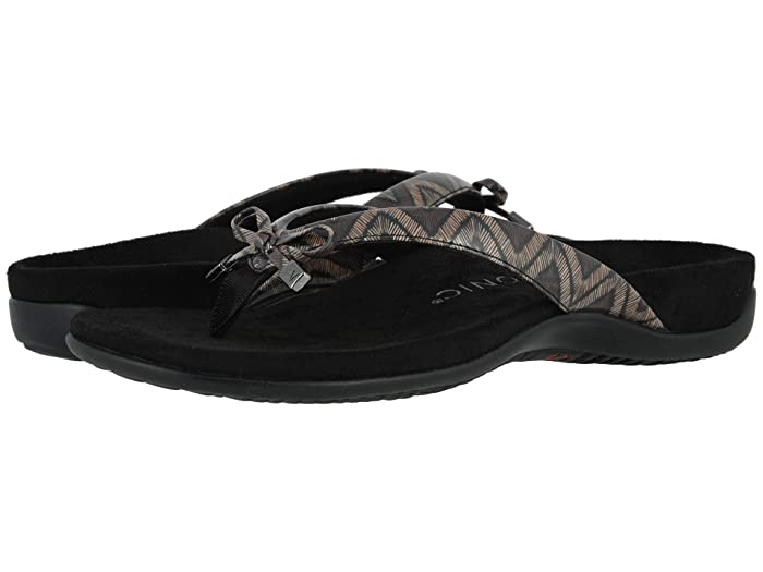 VIONIC  Bella II (Black Chevron) Womens Sandals