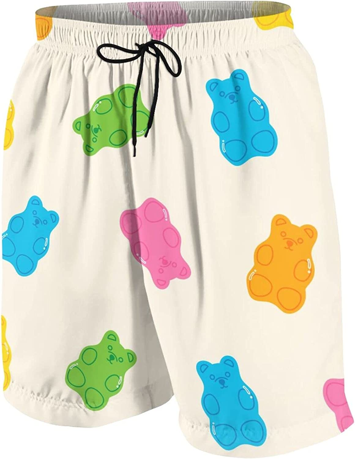 Boys Teens Swim Trunks Fruity and Tasty Sweets and Candies Quick Dry Beach Board Swim Shorts 7-18T