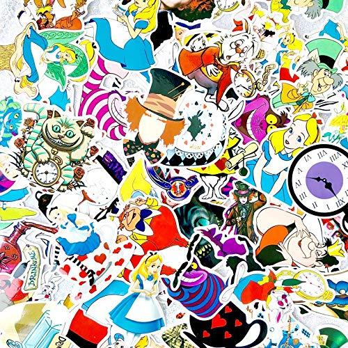 YOUYOU Vsco Girl Alice In Wonderland - Adhesivo decorativo para guitarra, ordenador portátil, equipaje, nevera, scrapbooking, 70 unidades