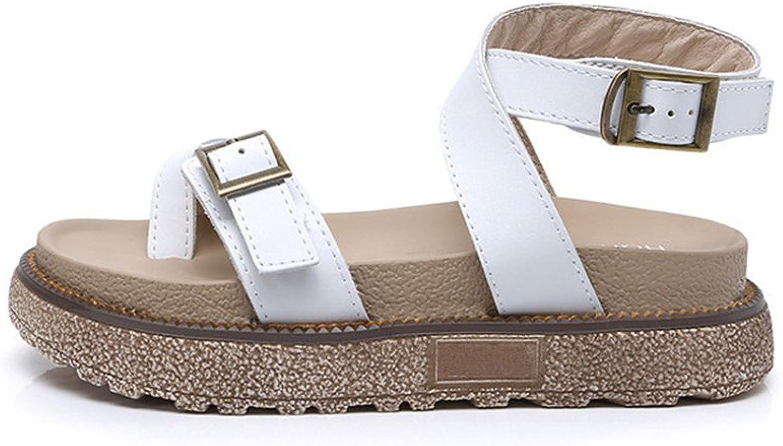24XOmx55S99 Women Cross Ankle Strap Sandals Open Toe Platform Beach shoes