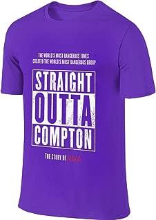 New Custom NWA Straight Outta Compton Fashion Funny Shirt Short Sleeve for Mens Black