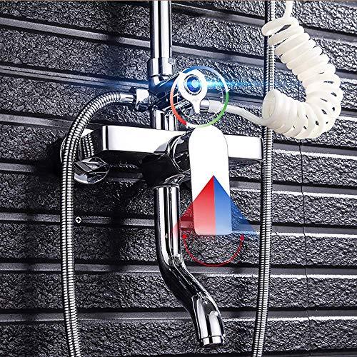ZKAIAI montado en la pared Productos de baño de mano Pistola de pulverización, Desescamado Boquilla, Ducha, Bidé Conjunto de ducha de cuatro velocidades, simple y práctico Conjuntos de ducha de agua c