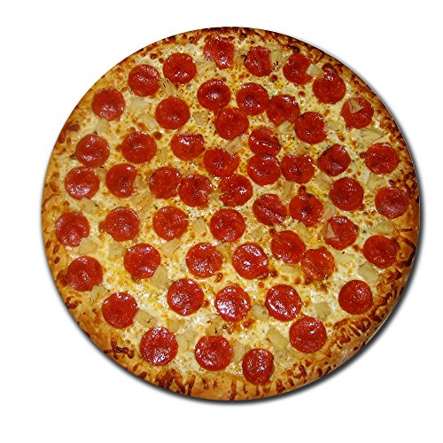 Pepperoni Pizza Round Mouse Pad Delicious Pizza Mouse Pad