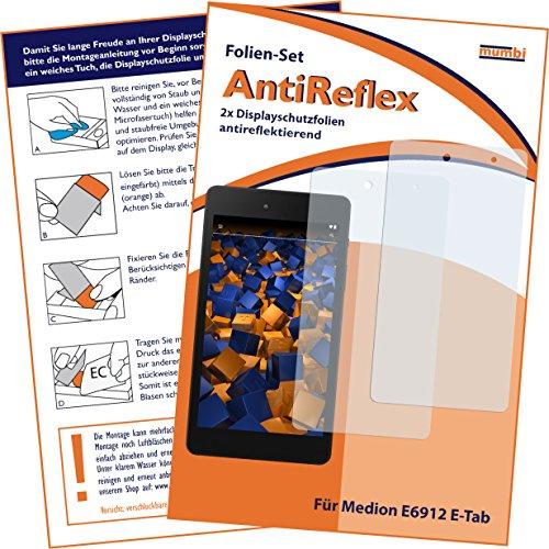 mumbi Schutzfolie kompatibel mit Medion E6912 E-Tab Folie matt, Bildschirmschutzfolie (2X)