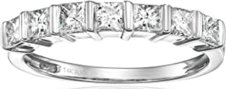 1/2 CT Princess Diamond Wedding Band in 14K Gold