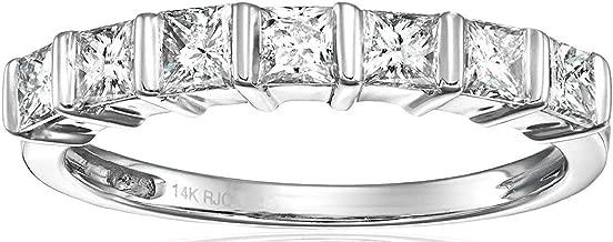 1/2 CT Princess Diamond Wedding Band in 14K Gold