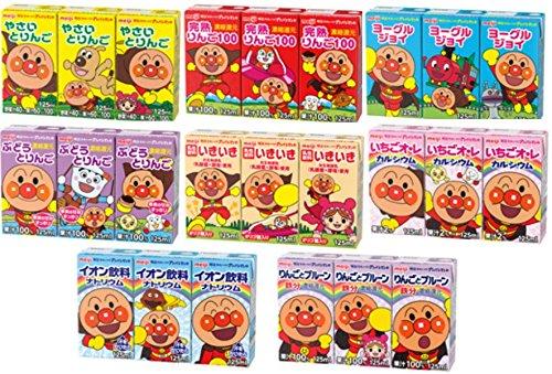 明治 それいけ!アンパンマン ジュース 5種類各 1パック (15本)